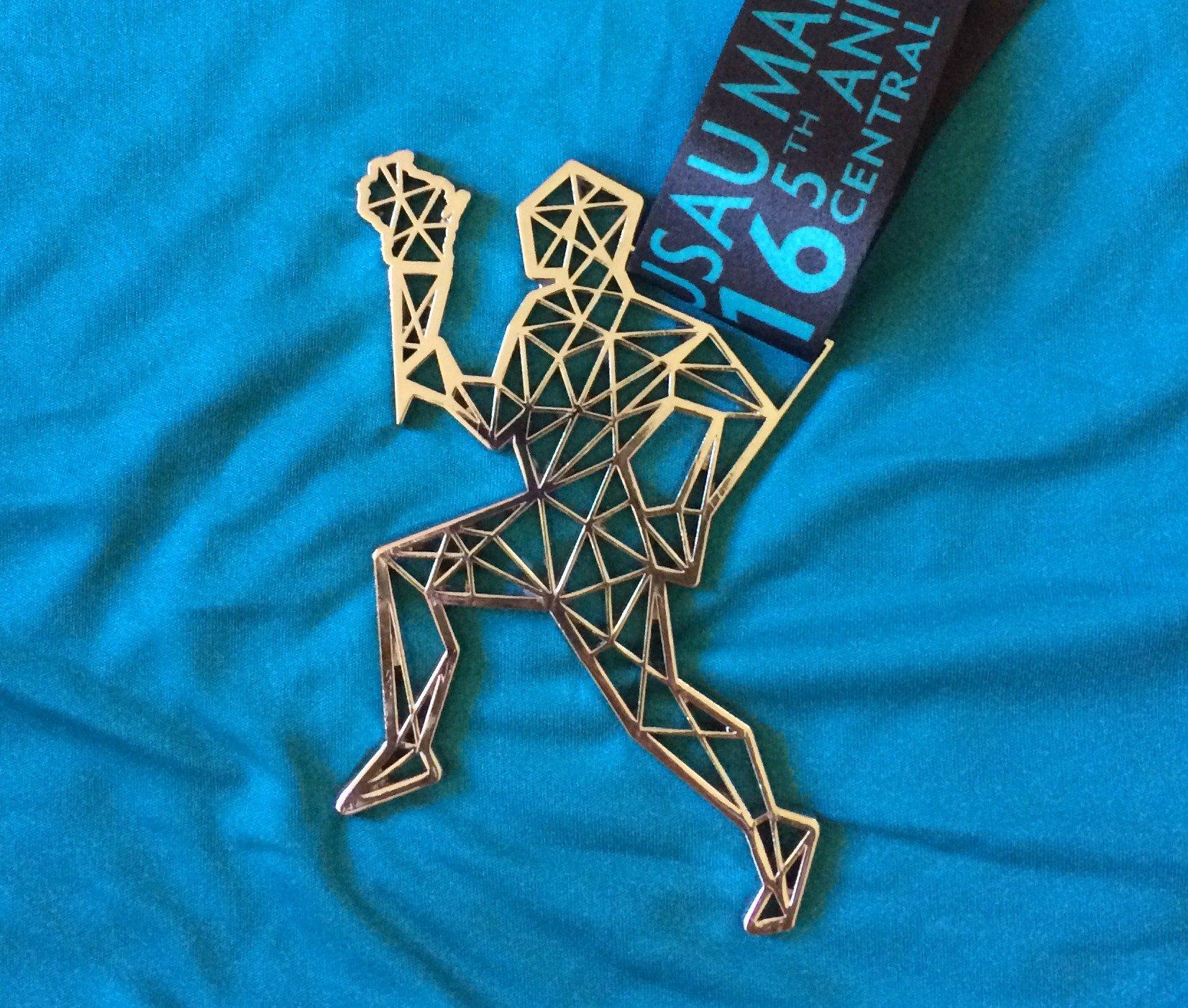 Wausau half marathon medal