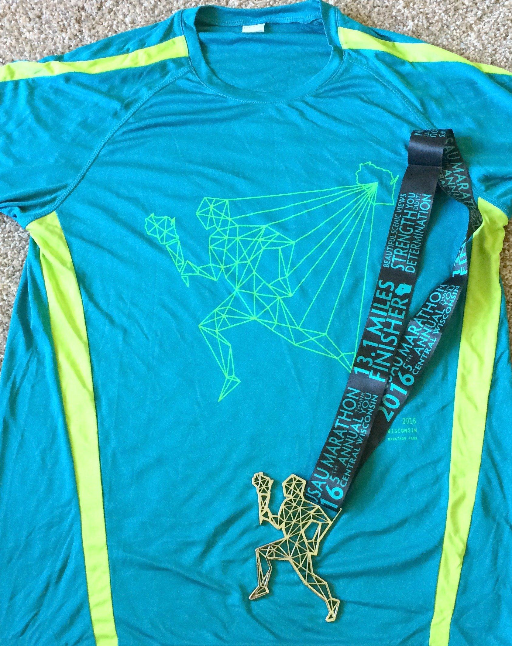 Wausau half marathon shirt
