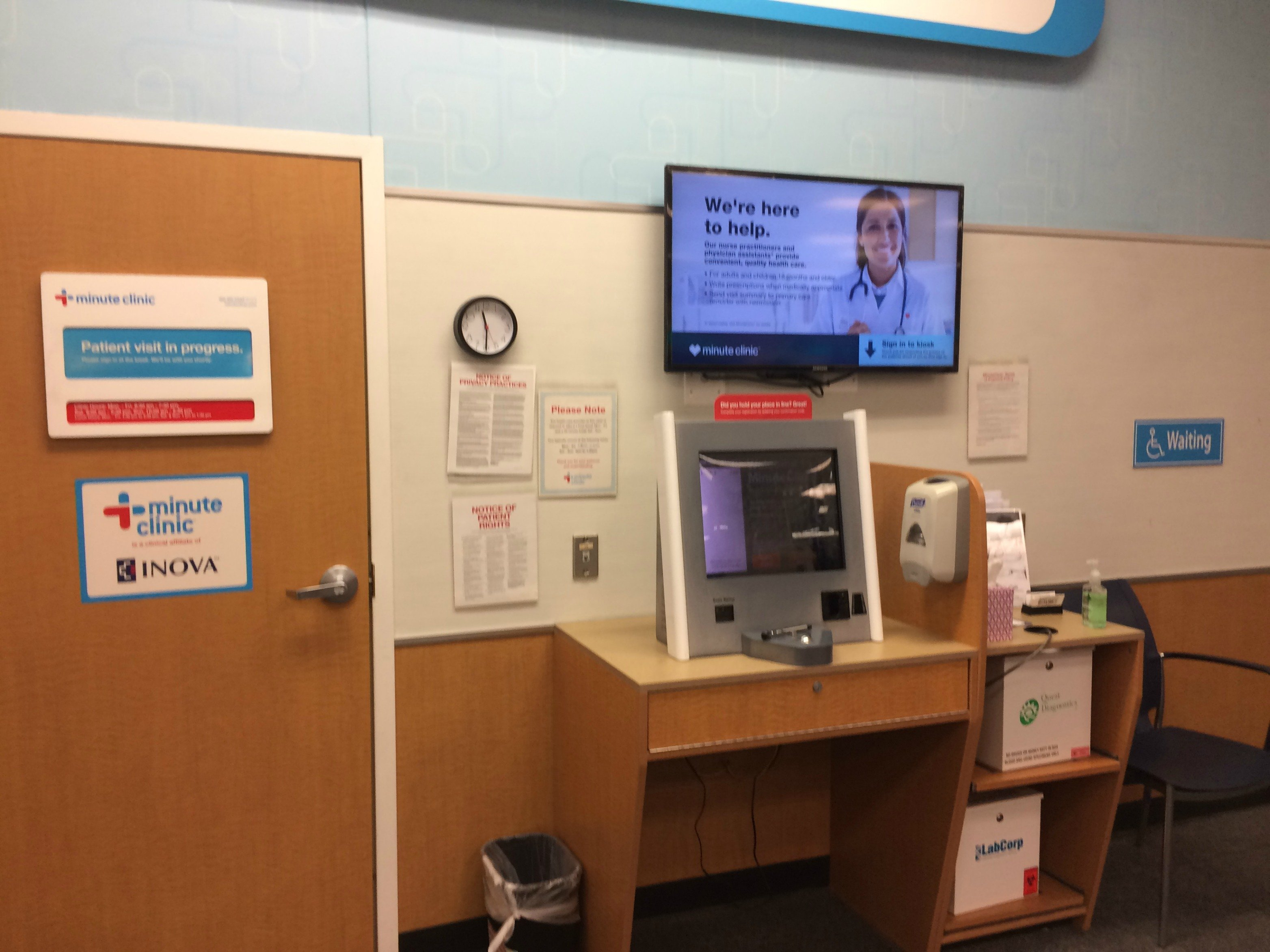 minuteclinic real waiting room