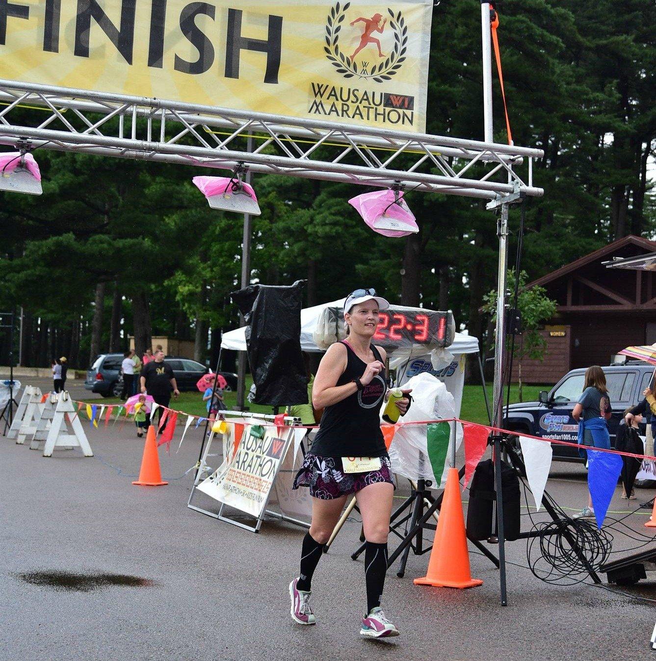 wausau half marathon finish