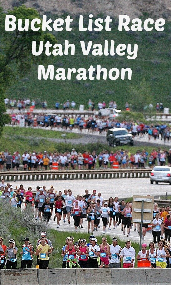 The Utah Valley Marathon is a beautiful marathon in Utah during the best time of year.