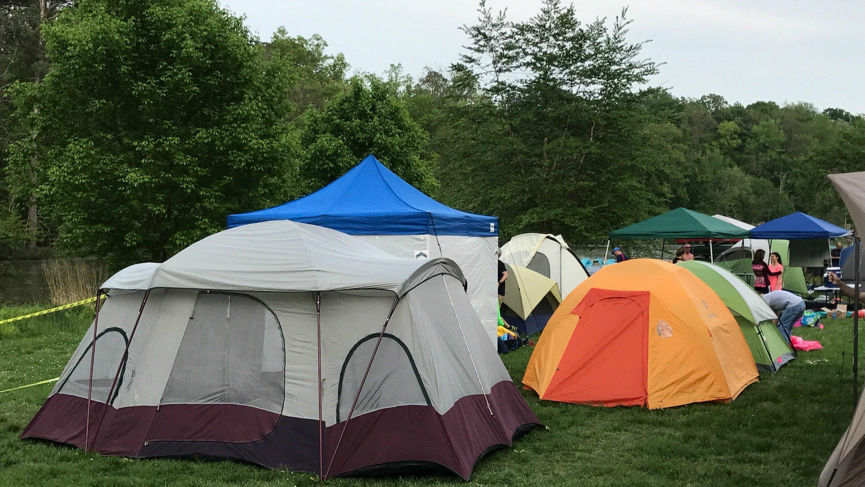 Ragnar Trail Richmond camp site