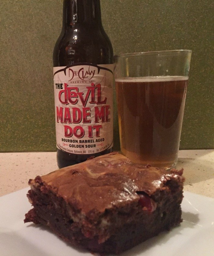 DuClaw Devil Made Me Do It Bourbon Brownies