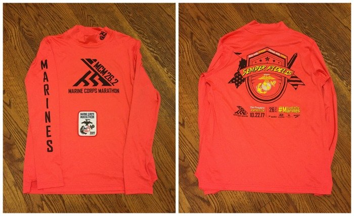 Marine Corps Marathon 2017 shirt
