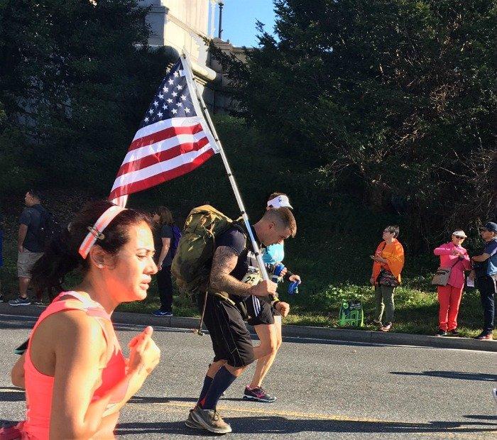 Marine Corps Marathon 2017 flag