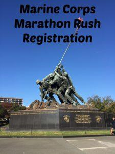 Registering during Marine Corps Marathon Rush Registration